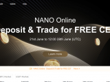 Coin Gratis CET di CoinEx – Event Listing Coin NANO